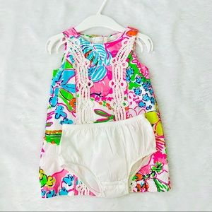 Lily Pulitzer floral dress for toddler.